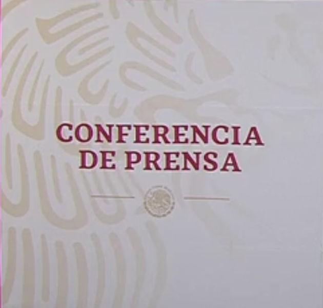 Conferencia de prensa en vivo