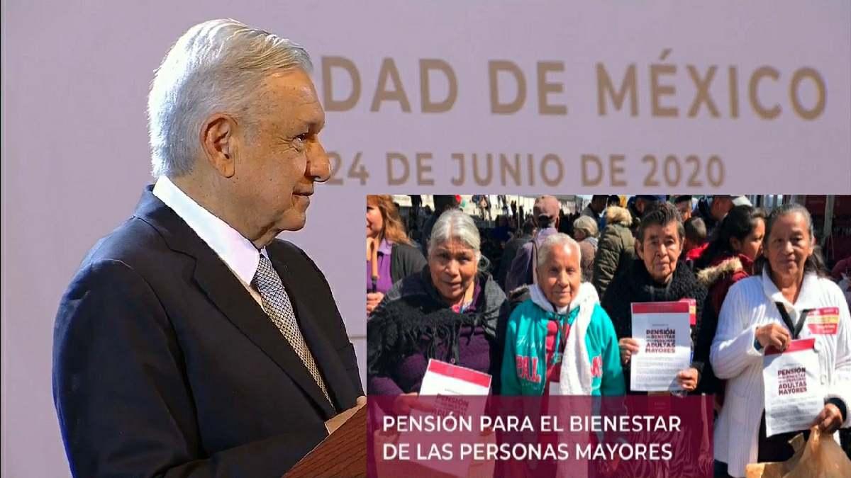 AMLO adelanta pensión a adultos mayores
