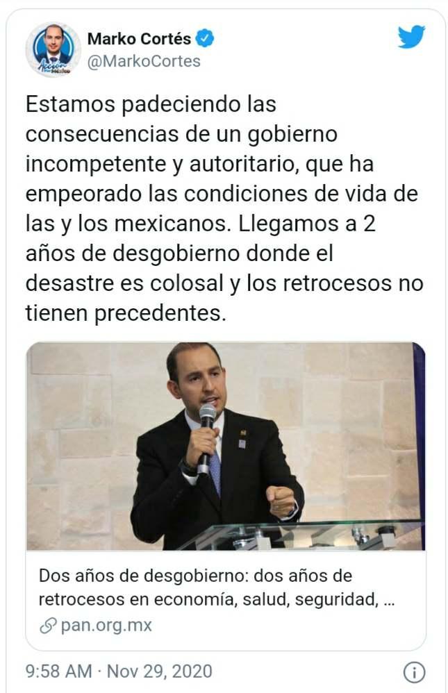 Comunicado de Marko Cortés