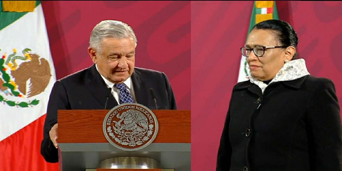 AMLO presenta oficialmente a Rosa Icela Rodríguez