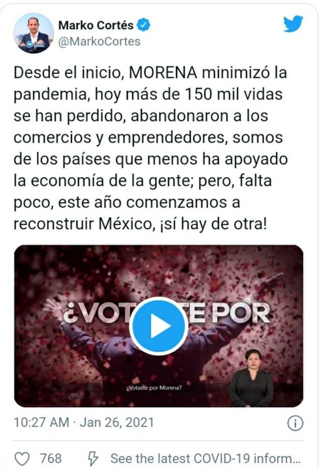Twitter Marko Cortés